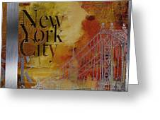 Ny City Collage - 6 Greeting Card by Corporate Art Task Force