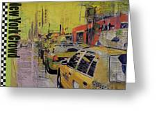 Ny City Collage Greeting Card by Corporate Art Task Force