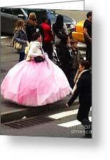 Nyc Ball Gown Walk Greeting Card by Susan Garren