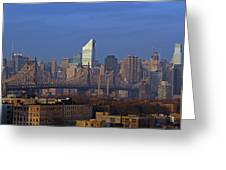 Nyc Citicorp Center And Queensboro Bridge Greeting Card by Juergen Roth