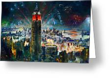 Nyc In Fourth Of July Independence Day Greeting Card by Ylli Haruni