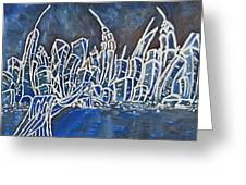 Nyc Jazz Part2 Greeting Card by Felix Concepcion