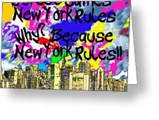NYC Kids' Street Games Poster Greeting Card by BRUCE IORIO