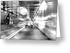 Nyc Lights And Movements Greeting Card by Anahi DeCanio