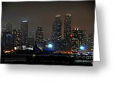 Nyc Skyline Greeting Card by Sue Rosen