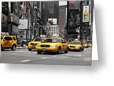 Nyc Yellow Cabs - Ck Greeting Card by Hannes Cmarits