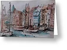 Nyhavn Greeting Card by Csilla Florida