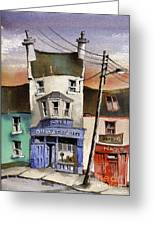 O Heagrain Pub In Ennistymon   Clare Greeting Card by Val Byrne