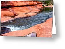 Oak Creek at Slide Rock Greeting Card by Carol Groenen