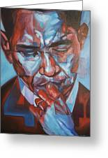 Obama 44 Greeting Card by Steve Hunter