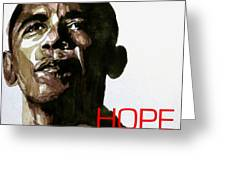 Obama Hope Greeting Card by Paul Lovering