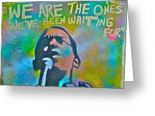 OBAMA IN LIVING COLOR Greeting Card by TONY B CONSCIOUS