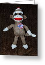 Obama Sock Monkey Greeting Card by Rob Hans