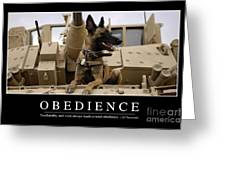 Obedience Inspirational Quote Greeting Card by Stocktrek Images