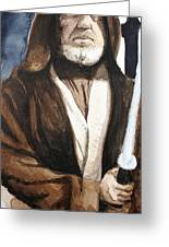 Obi Wan Kenobi Greeting Card by David Kraig