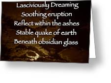 Obsidian Glass Greeting Card by Charlotte  DiSipio-Grillo