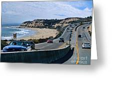 Oc On Pch In Ca Greeting Card by Jennie Breeze