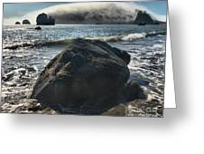 Ocean Boulder Greeting Card by Adam Jewell