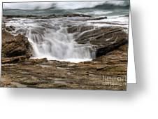 Ocean Cascade Greeting Card by Eddie Yerkish