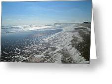 Ocean Foam Greeting Card by Silvie Kendall