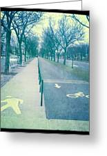 Ocean Parkway Greeting Card by Frank Winters
