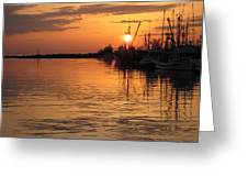 Ocean Sunset 3rd Greeting Card by Shirley Sirois