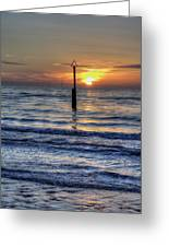 Ocean Sunset Greeting Card by Ian Mitchell