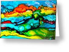 Ocean Tempest Tile Greeting Card by Alene Sirott-Cope