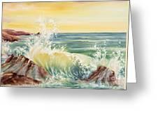 Ocean Waves II Greeting Card by Summer Celeste
