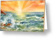 Ocean Waves IIi Greeting Card by Summer Celeste