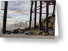 Oceanside Pier Greeting Card by Ann Patterson