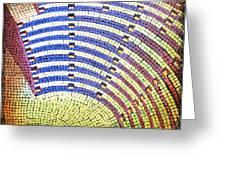 Ochre Auditorium Greeting Card by Mark Howard Jones
