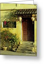 Ochre Wall 01 Greeting Card by Rick Piper Photography