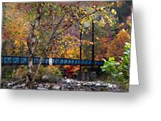 Ocoee River Bridge Greeting Card by Debra and Dave Vanderlaan
