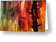 October Abstract Greeting Card by Patricia Motley