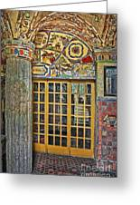 October At Fonthill Castle Greeting Card by Susan Candelario