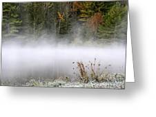 October Frost Landscape Greeting Card by Christina Rollo