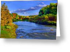 October On The Cuyahoga Greeting Card by Dennis Lundell