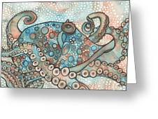 Octopus Greeting Card by Tamara Phillips