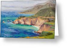 Ode To Big Sur Greeting Card by Karin  Leonard