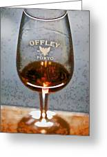 Offley Port Wine Glass Greeting Card by David Letts