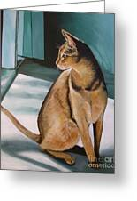Oh Beautiful House Cat Greeting Card by J Linder