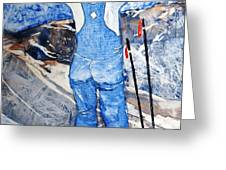 Oh Say Can You Ski Greeting Card by Elizabeth Carr