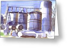 Oil Depot In April Greeting Card by Kip DeVore