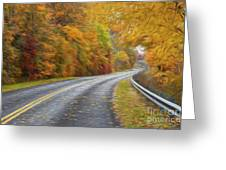 Oil Painted Country Road Greeting Card by Brian Mollenkopf