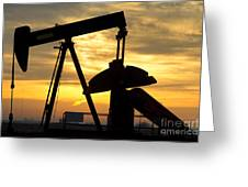 Oil Well Pump Sunrise Greeting Card by James BO  Insogna