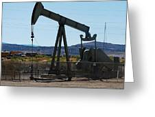 Oil Well  Pumper Greeting Card by Dany  Lison