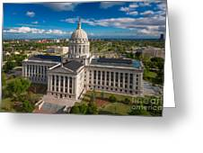 Oklahoma City State Capitol Building C Greeting Card by Cooper Ross