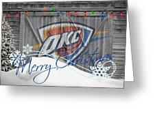 Oklahoma City Thunder Greeting Card by Joe Hamilton
