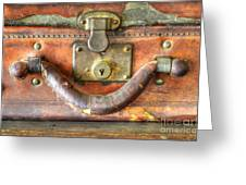 Old Baggage Greeting Card by Bob Christopher